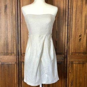 Alythea linen strapless dress Sz Medium